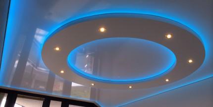 Leuchtende PVC-Spanndecken
