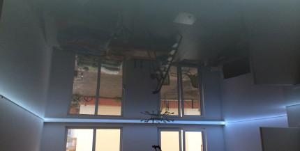 PVC-Spanndecken im Wohnzimmer