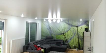 Wohnzimmer-Spanndecken